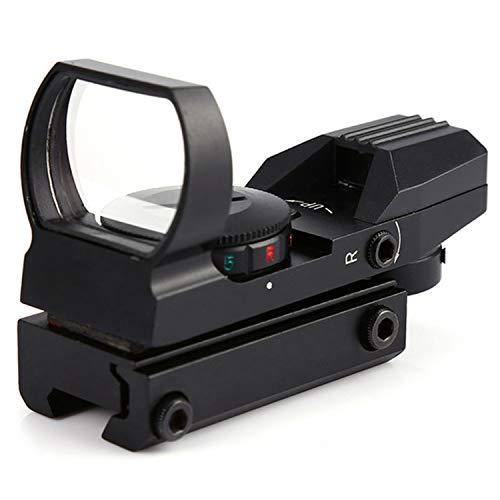 GUGULUZA Rot Grün Dot Anblick 4 Reflex Rotpunktvisier Muster mit 20 mm Schiene Jagd Zielfernrohr Zielvisier Punkt