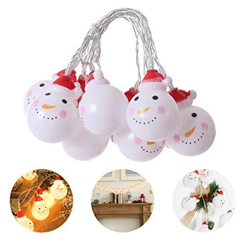 Tangshi Cordão de luzes de Natal, luzes LED de Natal à prova d'água operadas por bateria para decoração de árvore de Natal para ambientes internos e externos com 8 modos, decoração de ornamentos de Natal, 3M