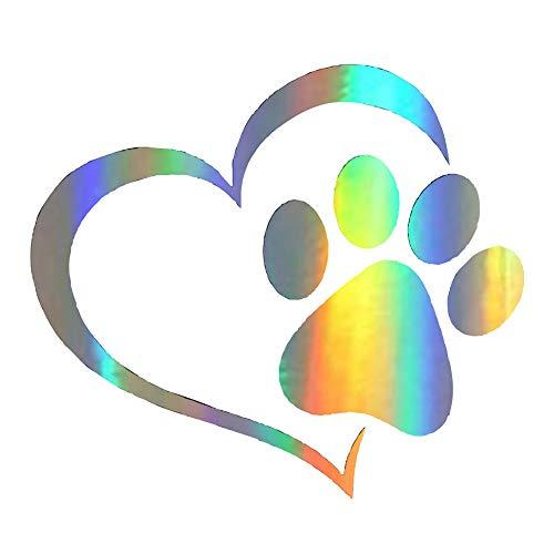 KKmoon Auto Aufkleber kreativ Funnny Katze Pfotenabdruck Hund Pfotenabdruck Aufkleber Auto Körper Deko