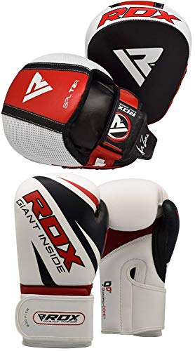RDX Boxing Pads and Gloves Set, Hook and Jab Target Focus Mitts...