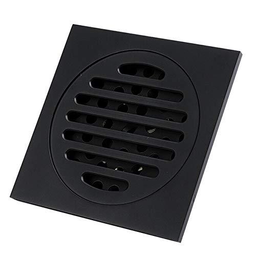 Feixunfan Bodenablauf Platz Bad Bodenablauf Küche Toilette Deodorant Boden Abwasserableitung Kappe (schwarz) Entwässern für Badezimmer Duschraum Toilette (Color : Black, Size : 10 x 10 x 4.1cm)