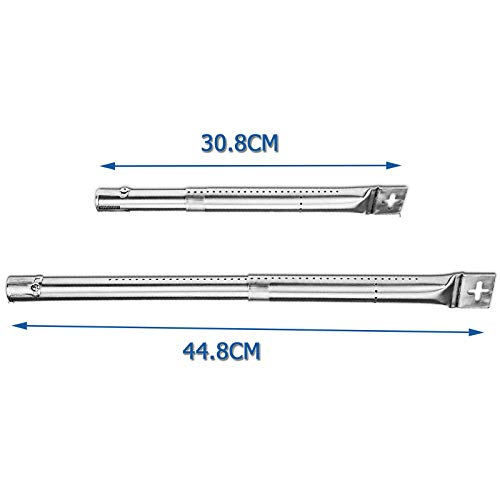GriHero 4-Pack Universal Gas Grill Burner for Charbroil, Master Forge, Perfect Flame, Uniflame, Lowes, and other Model Grills, Length Adjustable from 30.8 cm to 44.5 cm