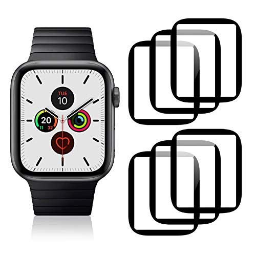 Ossky [6 Pezzi] Pellicola Protettiva per Apple Watch Series 6/SE/5/4 44mm, Protezione Schermo in TPU, Copertura Completa, Facile Installazione, Ultra-Clear, Tocco sensibile