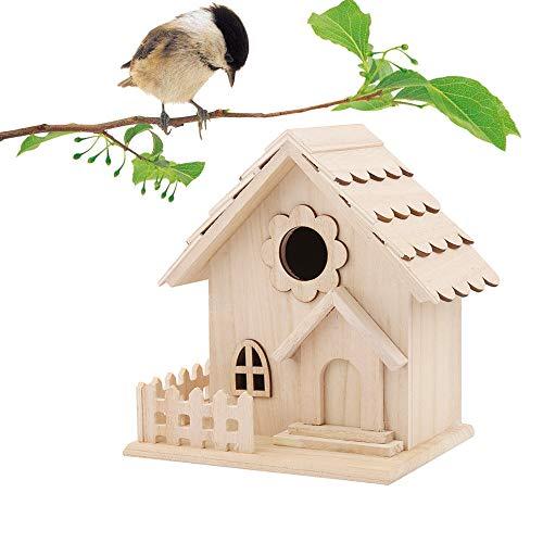 Bird House,Rameng Nichoir à Oiseaux Exterieur Maison à Oiseaux en Bois Décoration Jardin