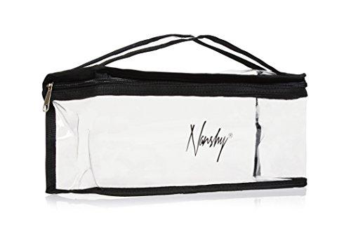 Beauty case trasparente con chiusura lampo