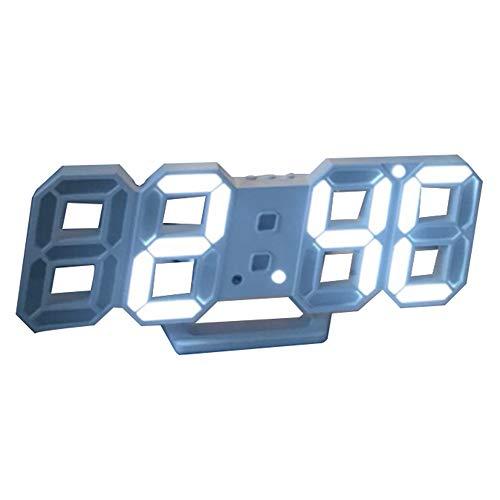 Alarm Clock LZPQ 3D Led Digitalwecker Moderne Wanduhr/Uhr / 12/24-Stunden-Anzeige, Automatische Helligkeitsanpassung, Nachtlicht, Geeignet FüR Zuhause/Schule/BüRo