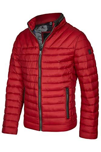 MILESTONE Herren Jacke Steppjacke Winterjacke Frederico Stehkragen Modern Fit 3M Thinsulate®-Isolierung Winddicht Wasserabweisend (60, Rot)