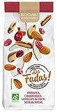 Les FADAS de Fruits Secs Amandes Cranberries Lamelles de Coco Noix du Brésil Bio, 145 g