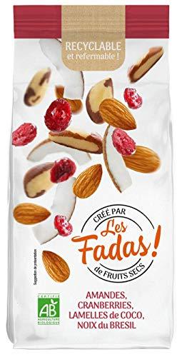 Les Fadas De Fruits Secs - Amandes Cranberries Lamelles De Coco Noix Du Brésil - Bio