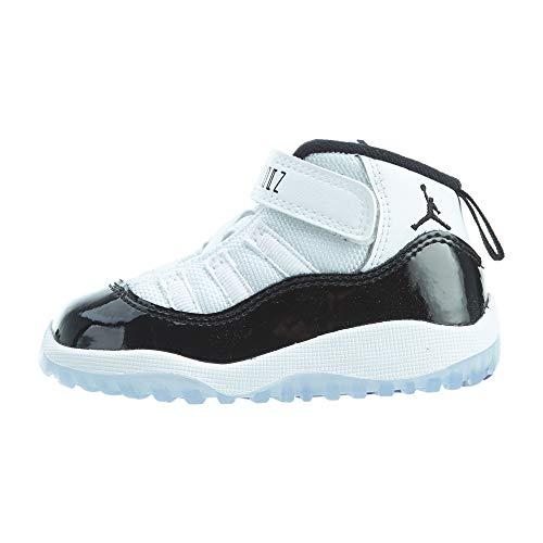 Nike Unisex-Kinder Jordan 11 Retro (td) Fitnessschuhe, Mehrfarbig (White/Black/Dark Concord 100), 23.5 EU