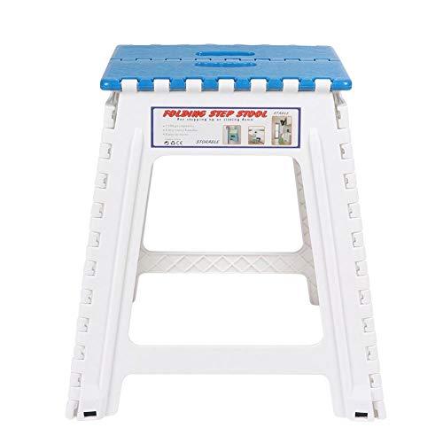 VIFERR Taburete Escalonado Plegable súper Fuerte para niños Adultos Cocina Baño Jardín Taburete Escalonado(Azul)