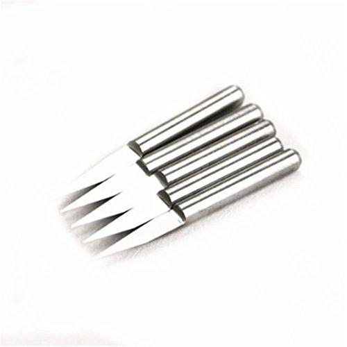 Autek 5 cabezales de PCB grave CNC fresa Bit herramientas 10° 0,1 mm J3,1001