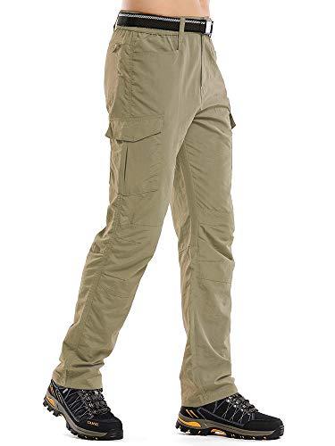 Jessie Kidden - Pantalones de senderismo para hombre, ligero, secado rápido, UPF 50+, carga safari, pesca, escalada, camping, senderismo, Hombre, color 6046 #Caqui (no convertible), tamaño 40