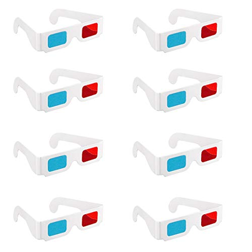 3D Brillen, 20 Paar Papier Rot und Blau Stereo Brillen für Filmdekoration