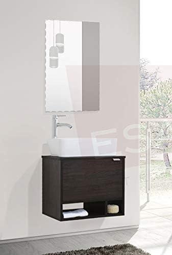 Esatto® fantastico Mueble Baño Dcta Alfa Plus Lavabo Vidrio Llave Espejo