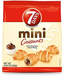 7Days Mini Croissants, Creamy Chocolate Filling (Pack of 8) | Perfect Breakfast OR Snack for Sharing | GMO-Free