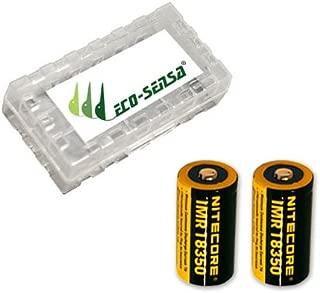 2x Nitecore IMR 18350 7A Li-Mn Rechargable Battery (700mAh) NI18350A w/FREE Eco-Sensa Battery Case (Just batteries & Eco-Sensa Battery Case)