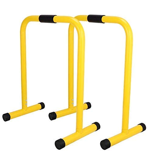 ReachPT Dip Stand, Total Body Strengthener, Heavy Duty Ultimate Body Press Parallel Bar, Multi-Function Home Gym Stabilizer Training Fitness Equipment (Yellow)