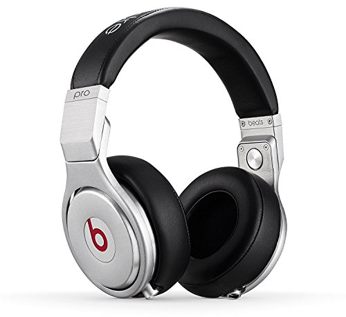 Beats Pro by Dr Dre Over-Ear Wired Headphone with Mic, Coiled Cable and 3.5mm Jack - Black (Renewed)