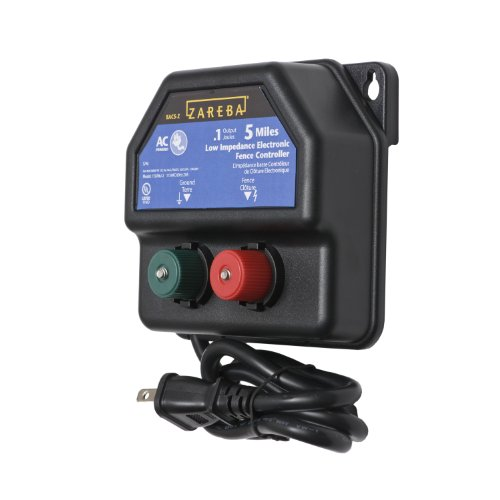 Zareba EA5M-Z 5-Mile AC-Powered Electric Fence Charger,Black