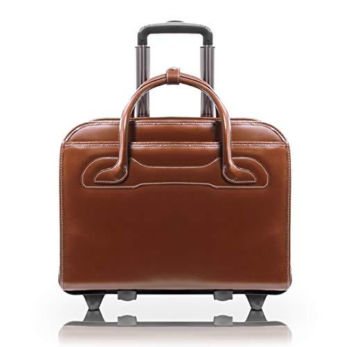 McKlein Cowhide Leather Wheeled Ladies Briefcase