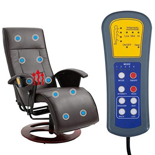 Tidyard Massagesessel Polstersessel TV Sessel Stuhl Mit Fernbedienung & verstellbaren Rückenlehne,Relaxsessel Fernsehsessel Massagestuhl Ruhesessel liegesessel,Taillenheizung,5 Massagefunktionen