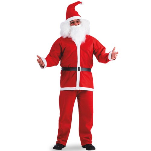 Costume Deguisement PERE NOEL - 5 Pièces - Polyester - Taille L/XL - 594