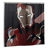 NR Iron Man Marvel Leagu Duschvorhang Liner Wasserdichtes Polyester Bad Duschvorhang Duschvorhang 12 Haken