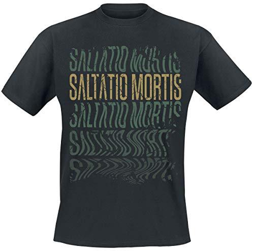 Saltatio Mortis No Lines Männer T-Shirt schwarz L 100% Baumwolle Band-Merch, Bands