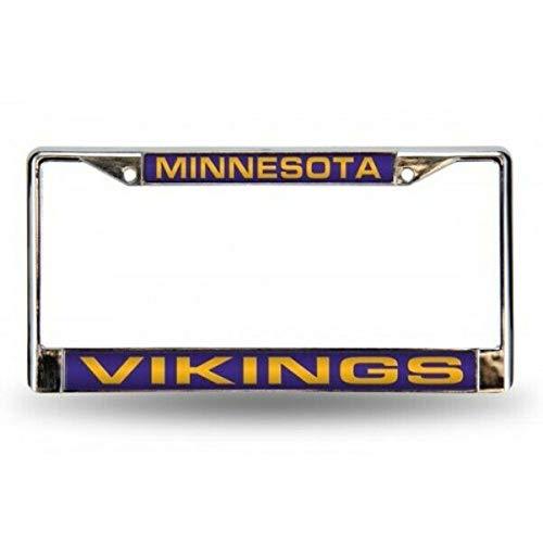 Vikings Laser Chrome License Plate Frame - FCL3101