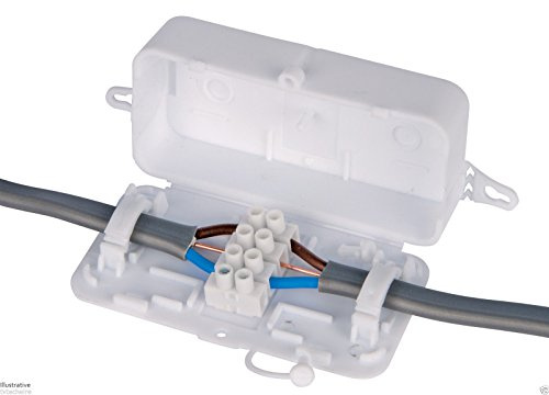 Debox DEKSB-001 4 pole connector block junction box (Pack of 1) by Debox