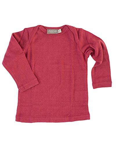 Alkena, Baby/Kleinkind Unterhemd, 100% Bourette Seide (56/62, Beere)