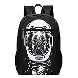 Mochila casual, escolar, mochila escolar para niños, niñas, hombre y mujer, bolsa de camping, viaje, portátil, Backpack de casco de astronauta Carlin