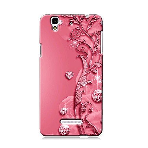 Clapcart Design Printed Mobile Back Cover for Micromax YU Yureka/Yu Yureka Plus -Pink Color (Heart Design Print for Girls)