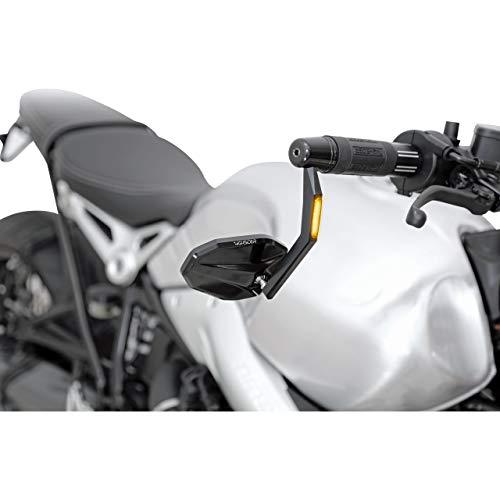Highsider Motorradspiegel Lenkerendenspiegel/Blinker für 12-21mm Victory Alu schwarz