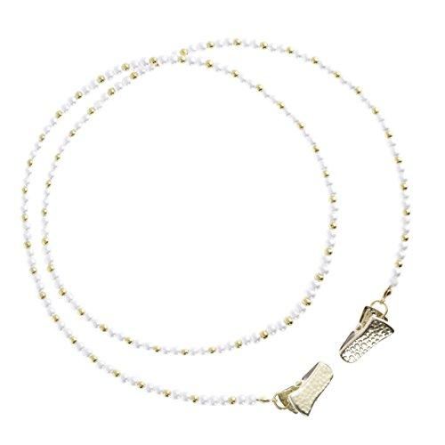 Votoka Serviettenkette, Serviettenhalter, Festhaltekette Perlen mit Clip,Serviettenclip