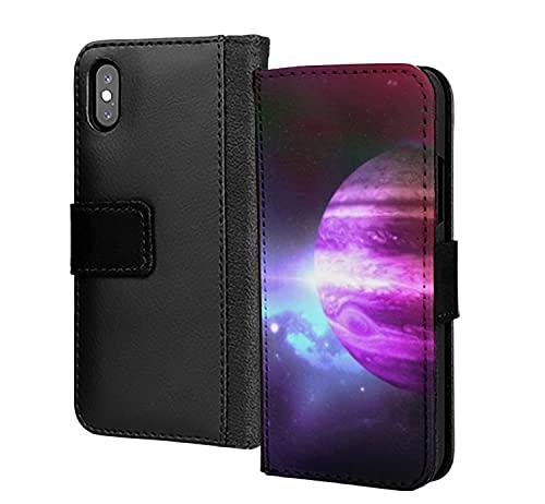 Pink Planet Rings Universe - Funda de piel sintética para Samsung Galaxy A50