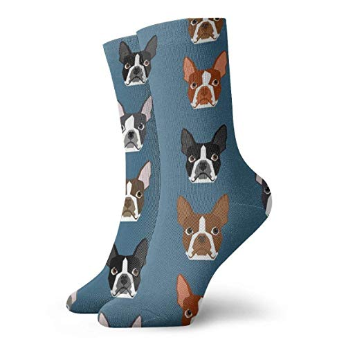 Kevin-Shop Calzini Unisex Fun Dress - Calzini Colorati Funky - Winer Dog Face Socks