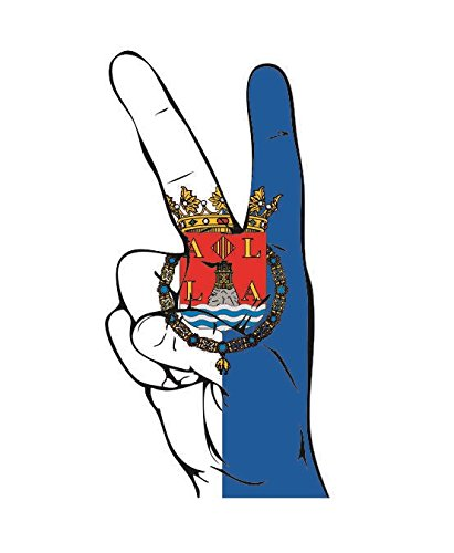 U24 Aufkleber Peace Finger Alicante Autoaufkleber Sticker