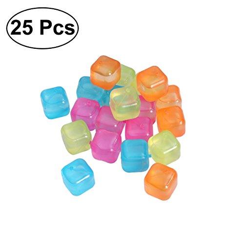18Pc Plastique Réutilisable Ice Cubes Pack Mix Couleur Cubes
