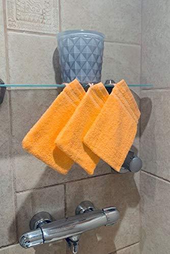 CORR Gant de toilette Corail (LOT de 3) 20x14 cm - 100% coton