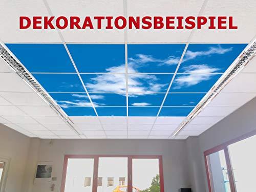 Motivdecken Wolken – Designdecken für Kassettendecken – bedruckte Abhängedecken - Deckenbild für Rasterdecken z.B. OWA Mineralfaser Platten, Knauf AMF, Armstrong Decken Deckenpaneel