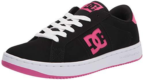 DC womens Striker Skate Shoe, Black/Crazy Pink, 9.5 US