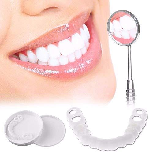 Instant Smile Cosmetic Teeth Comfort Superior e Inferior Reutilizable Fit Flex para Adultos Snap On Smile Blanqueamiento de la Dentadura 1 par