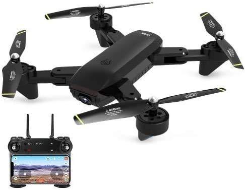 Juguete DM107S cámaras duales Plegable RC Aviones no tripulados de Alta Velocidad Soporte VR UAV RTF 2,0 MP cámara Gran Angular de la batería 2 QQQNE