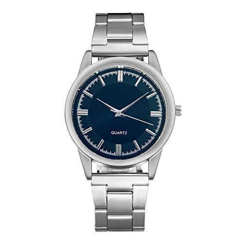 Hombres Business Casual Watch Top Malla de Lujo Malla de Lujo Simple Business Acero Inoxidable Sin Relojes Impermeables para Hombres (Color : A)