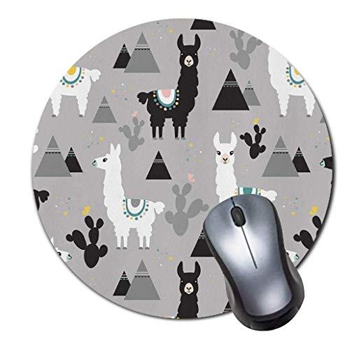 Alfombrilla de ratón para juegos de ordenador, antideslizante, material de goma, antideslizante, para oficina y hogar, ordenador portátil de escritorio (8 pulgadas), diseño de llamas