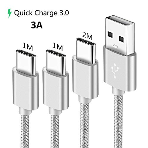 Cavo Per Samsung Galaxy A80 A50 A70 A40 A20E A20 M20 A30 A70 A90 5G A51 A71,A8 A9 2018,A3 A5 2017,3A Usb Type/Tipo-C Ricarica/Carica Rapida 1M 1M 2M,Cavetto Caricabatterie Caricatore,Quick Charge 3.0