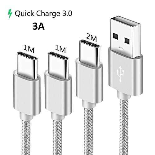 Usb C Kabel,Ladekabel für Huawei P30 P20 P40 Lite Pro,Mate 20 30,Xiaomi Redmi Note 7 8 9S 9 Pro Max 8T,Mi 10 Pro 9 9T A3 A2,Schnellladekabel 1M 1M 2M