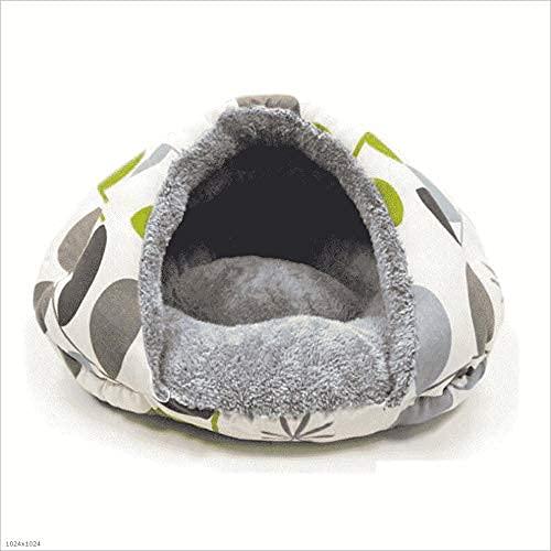 WZWHJ Cozy Pet Igloo cama para esconder agujero, alfombra para mascotas, manta para mascotas, linda, suave, no tóxica, transpirable, cálida cama para perros (tamaño: 55 cm)
